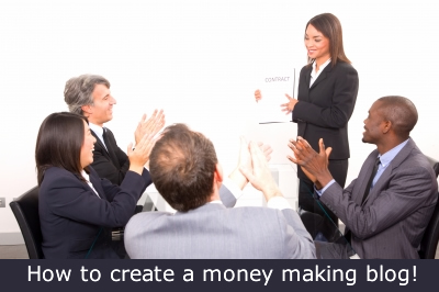 create a money making blog