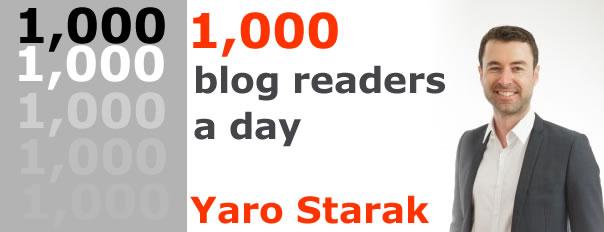 1000 blog readers