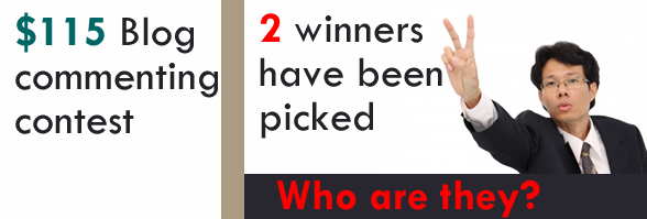 blog commenting contest winners