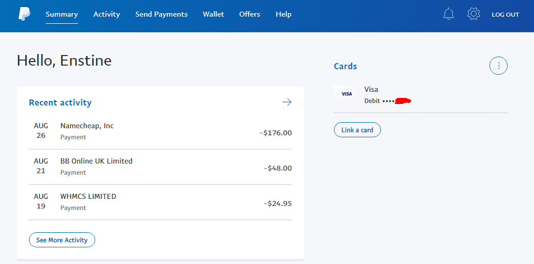 cameroon paypal account