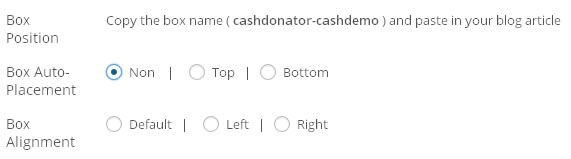 cashdonator box position