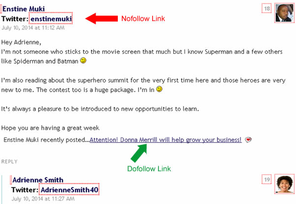 dofollow backlinks blogging
