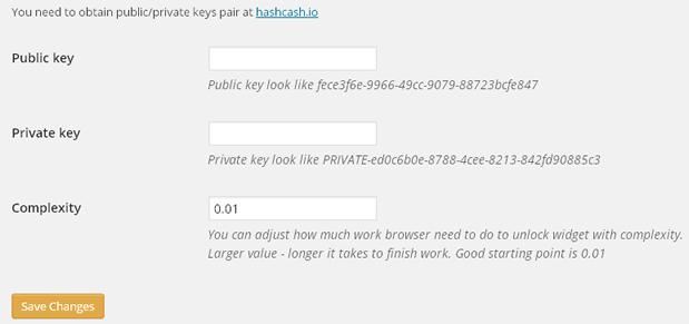hashwash wordpress anti spam