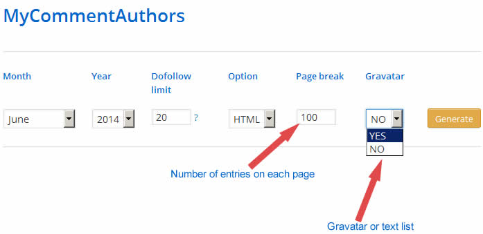 my comment authors dashboard