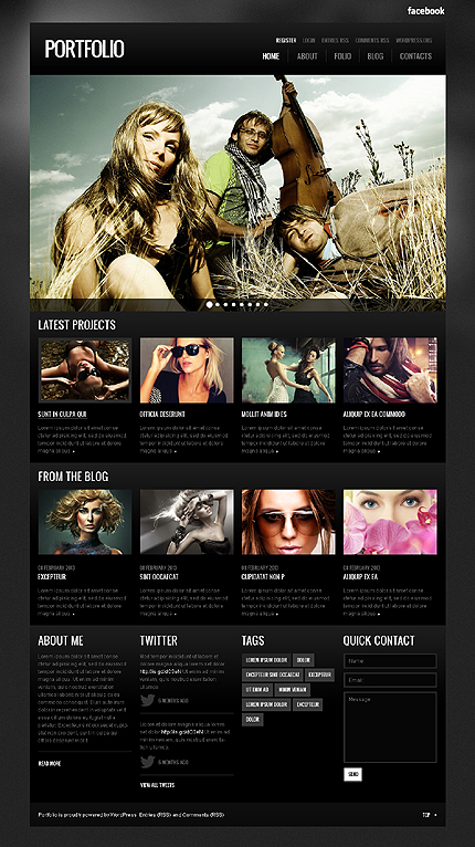 template 41503 - portfolio photographer wordpress theme