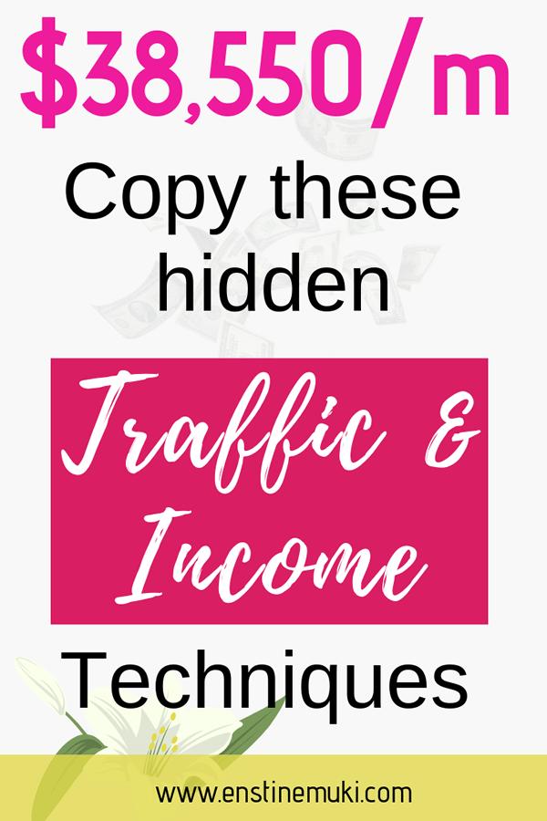 hidden traffic and income technique