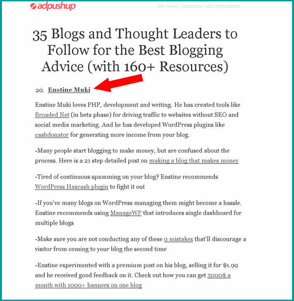 35 blog leaders