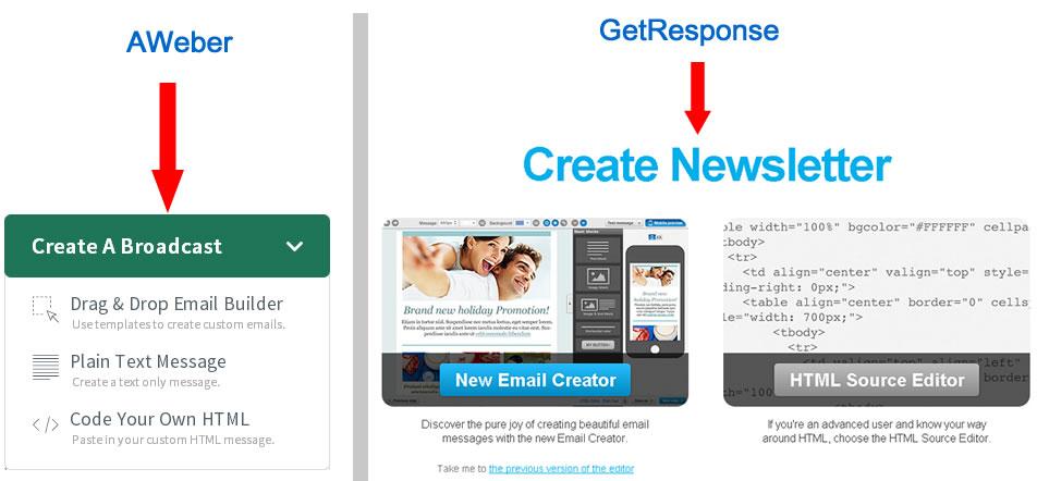 aweber vs getresponse mass mail starter