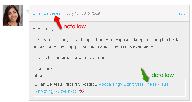 commentlu enabled dofollow blogs