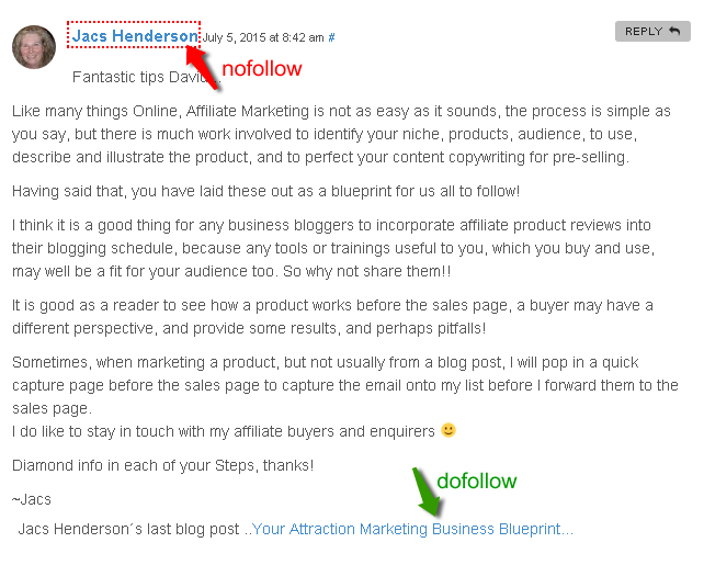 dofollow backlinks on commentluv blogs