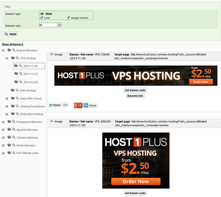 host1plus affiliate program banners