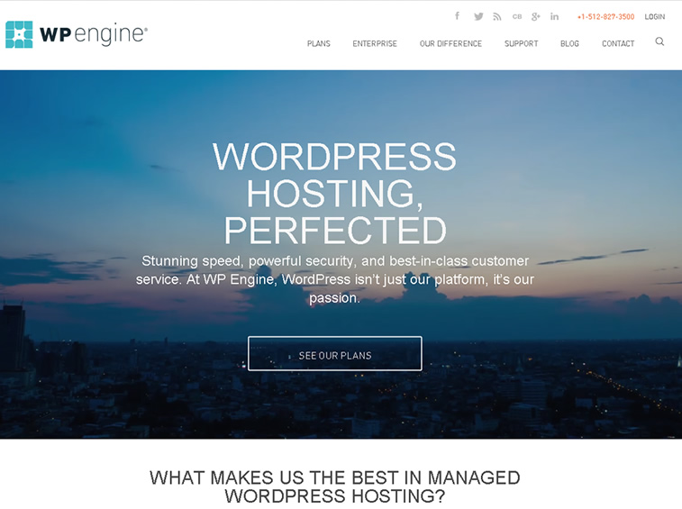 wpengine managed wp hosting