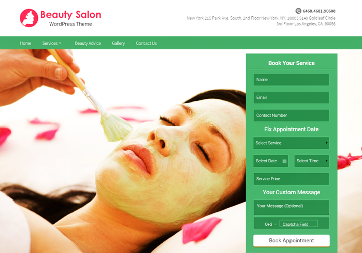 WordPress Theme For Makeup Artist