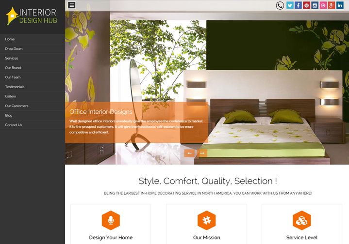 WordPress Theme For Interior Design