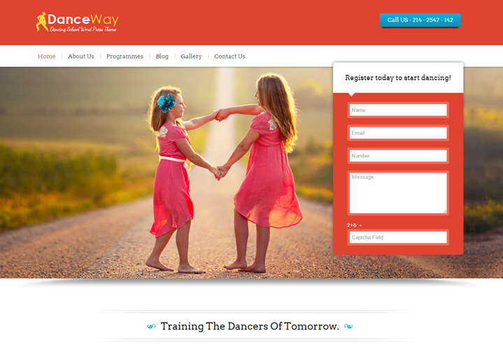 WordPress Theme For Dance School