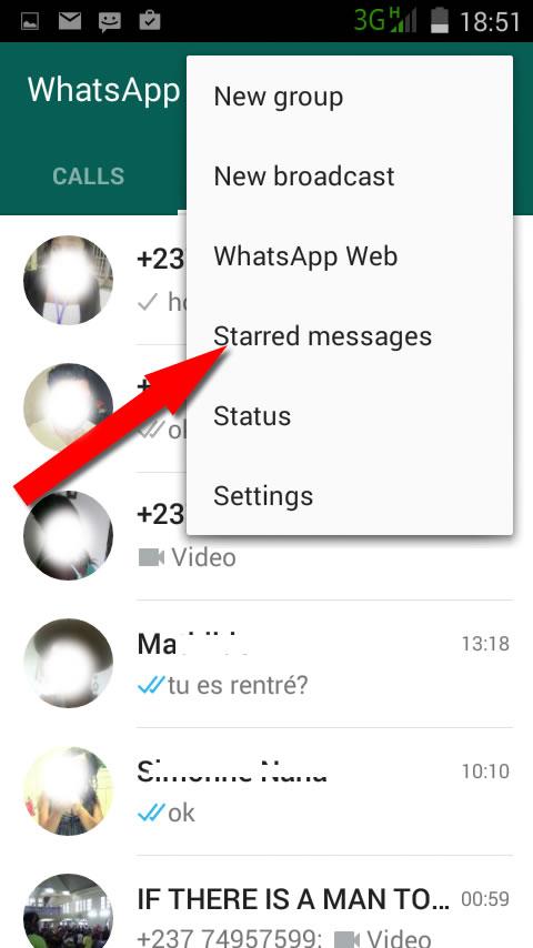 star in whatsapp