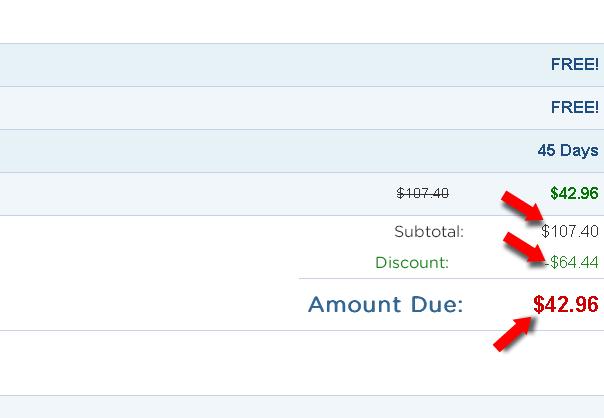 Hostgator Webhosting 60 discount order