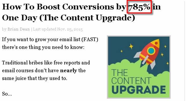 content upgrade works