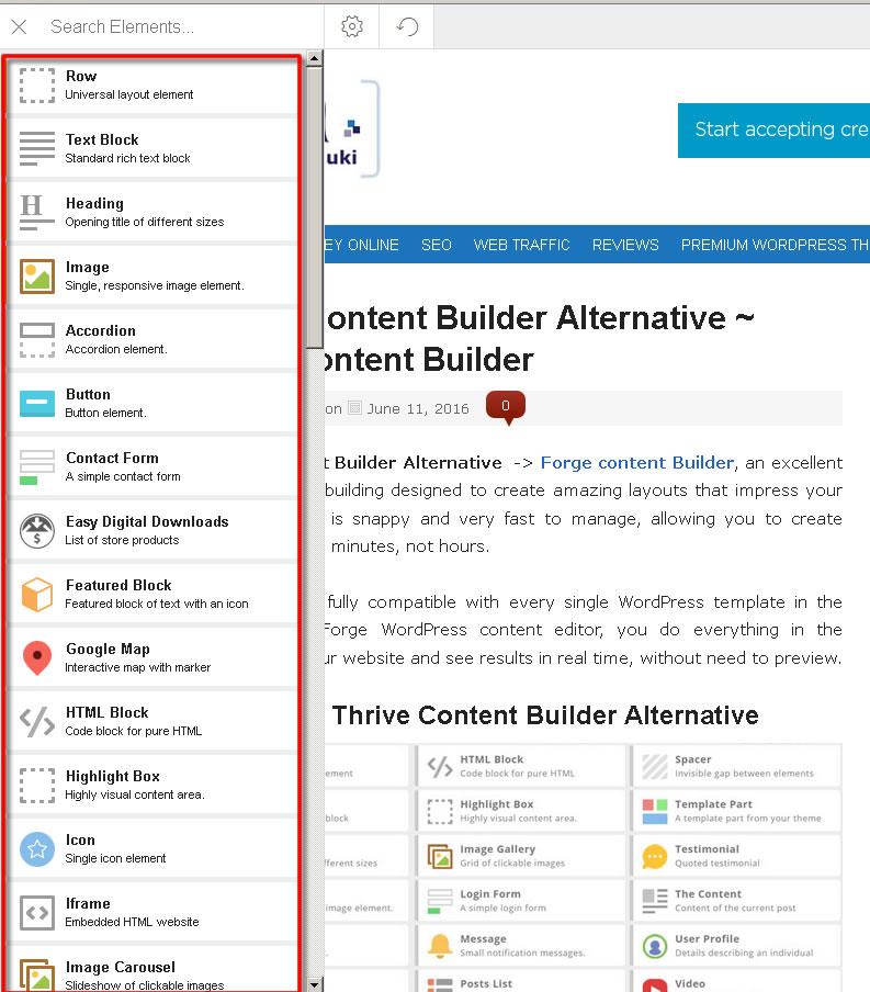 thrive content builder alternatives