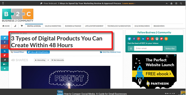 How to create a blog that makes money create products