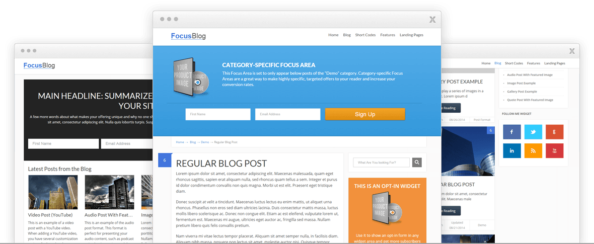 forcusblog theme review