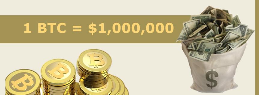 $1 million per Bitcoin