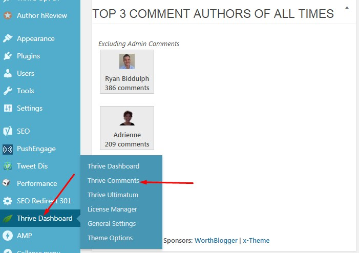 keywords in blog comments
