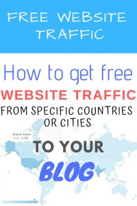 website traffic by country