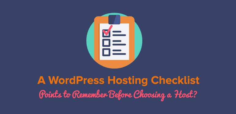 WordPress Hosting Checklist