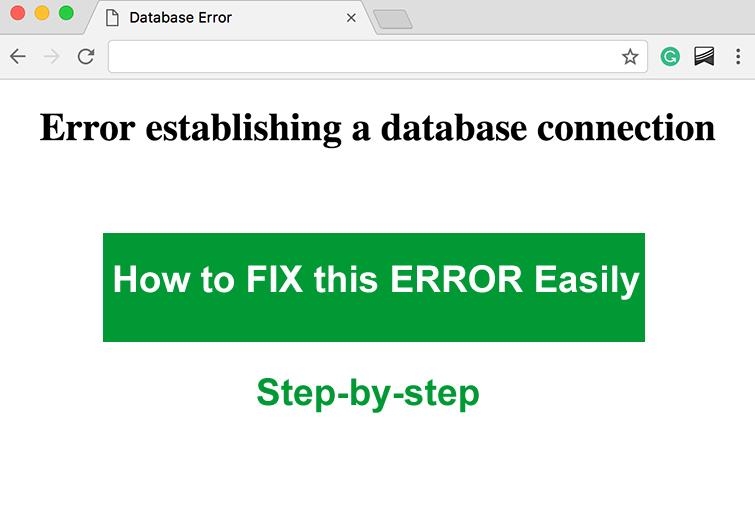 error establishing database connection fixed
