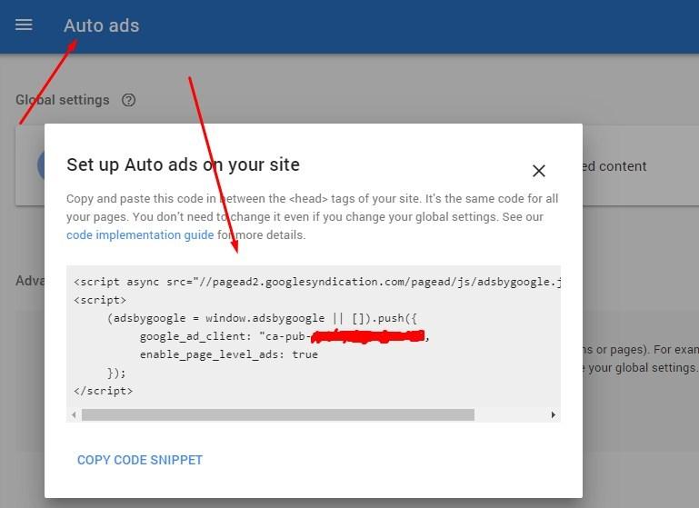 make money with Google online autoads