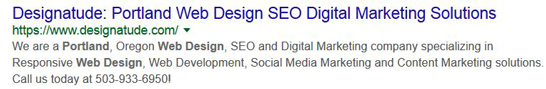 portland web design and seo