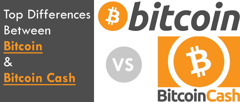 The top 4 Differences Between Bitcoin and Bitcoin Cash