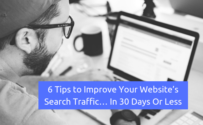 website search traffic tips