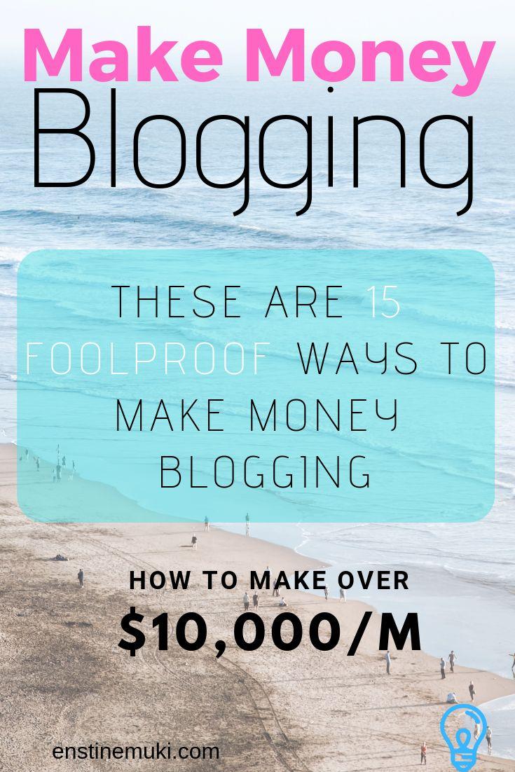 bloggers make money blogging