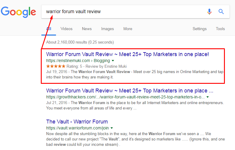 guaranteed google first page 24 hours