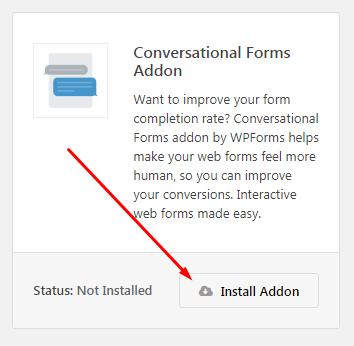 install conversational form addon