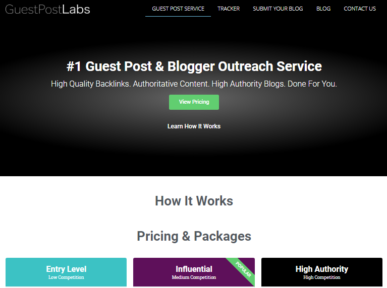 Guest Post & Blogger Outreach Service