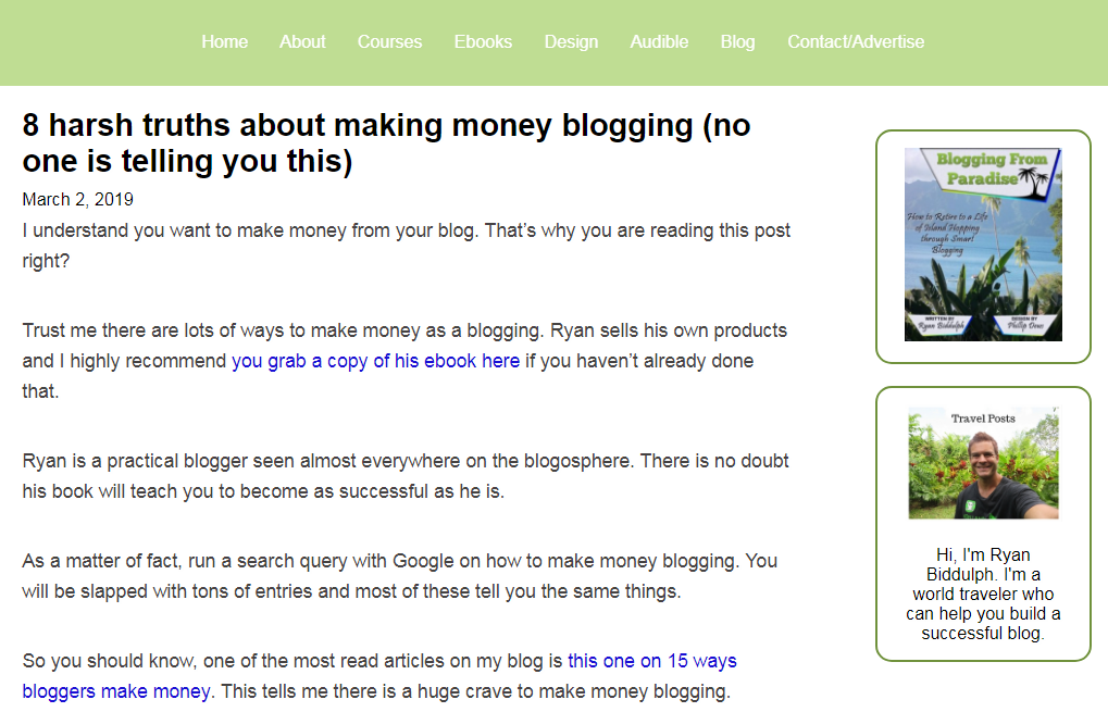 harsh blogging truth
