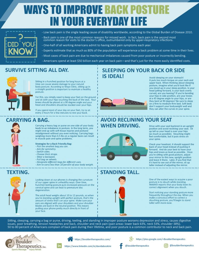 6 ways to improve posture