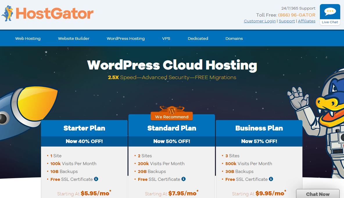 hostgator wp hosting