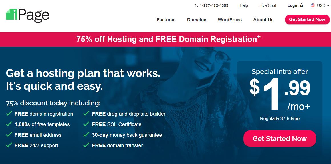 ipage wp hosting