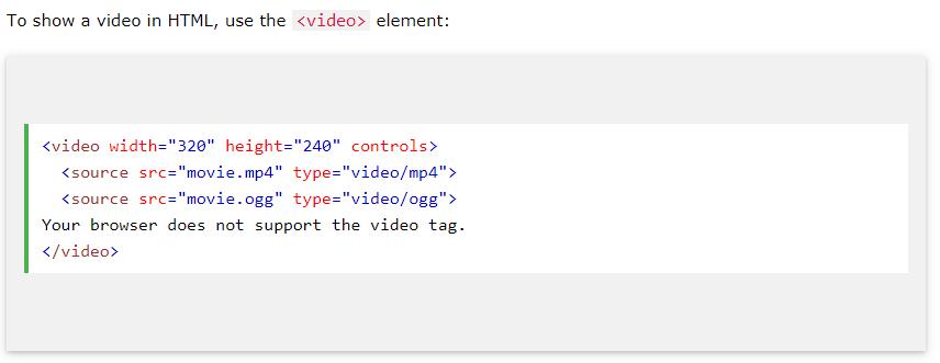 html5 embed