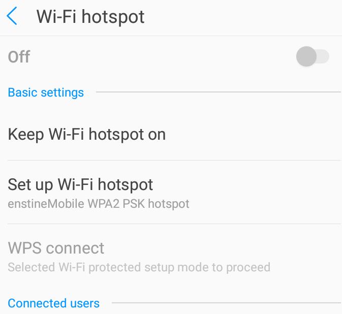 wifi hotspot greyed