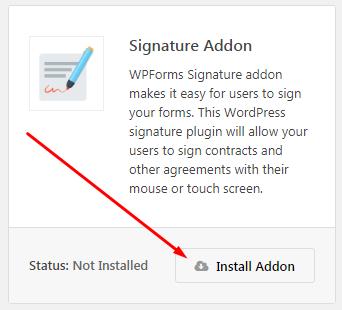 electronic Signature Addon