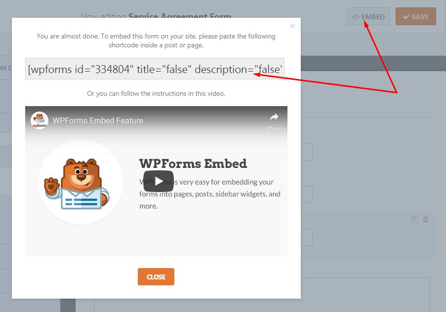 embed digital form