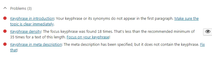 Yoast Bad Results