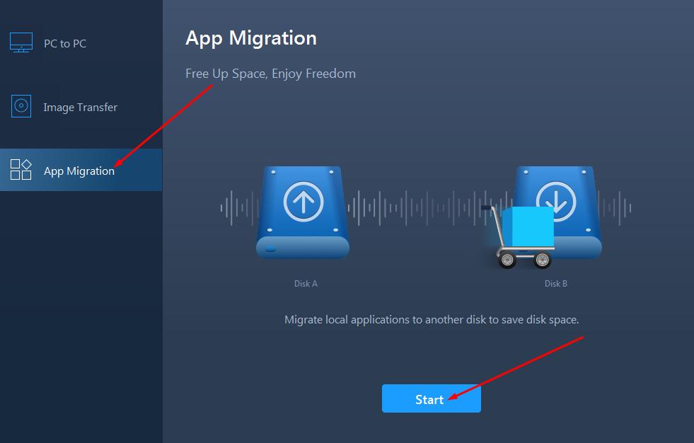 EaseUS Todo PCTrans app migration