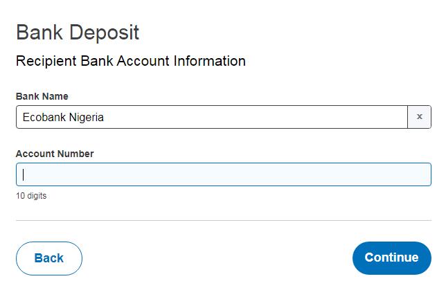 PayPal bank deposit