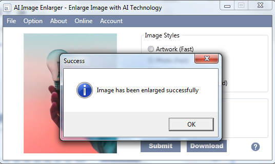 ai image enlarger for windows